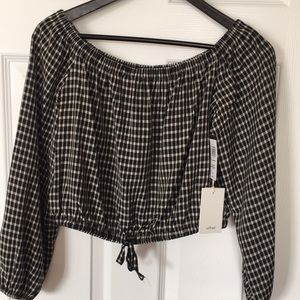 Aritzia Wilfred Eleanora- Black/White- Size L